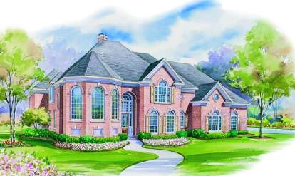 4 Bed, 3 Bath, 4428 Square Foot House Plan - #402-00968