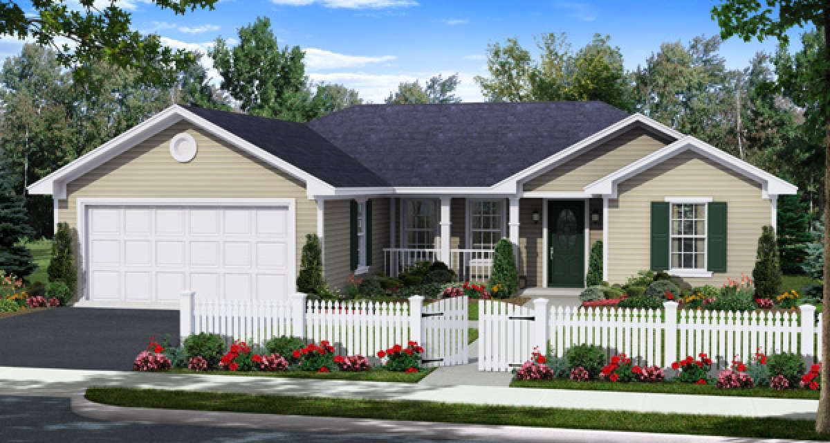 White Picket Fence House Farmhouse