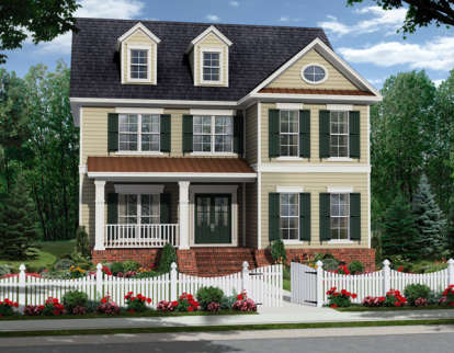 4 Bed, 2 Bath, 2570 Square Foot House Plan - #348-00200