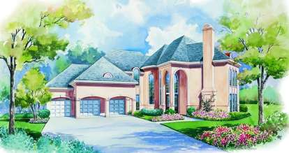 4 Bed, 3 Bath, 3513 Square Foot House Plan - #402-00969
