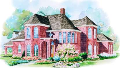 4 Bed, 3 Bath, 3538 Square Foot House Plan - #402-00979