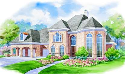 4 Bed, 4 Bath, 4339 Square Foot House Plan - #402-00980