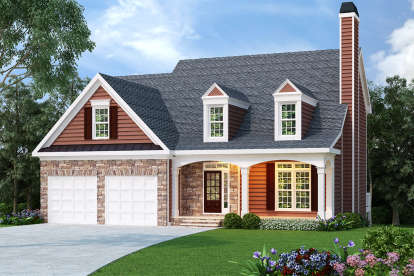 3 Bed, 2 Bath, 2028 Square Foot House Plan - #009-00034