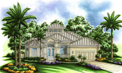 4 Bed, 3 Bath, 2522 Square Foot House Plan - #575-00082