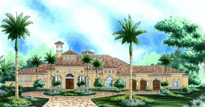 3 Bed, 4 Bath, 3836 Square Foot House Plan #575-00087