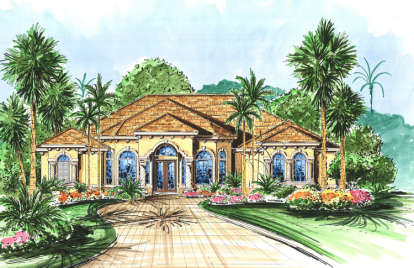 4 Bed, 3 Bath, 3252 Square Foot House Plan - #575-00092