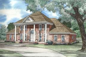 Luxury House Plan #110-00303 Elevation Photo