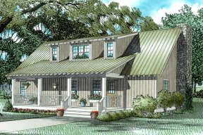 Cottage House Plan #110-00308 Elevation Photo
