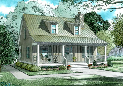 2 Bed, 2 Bath, 1400 Square Foot House Plan #110-00311