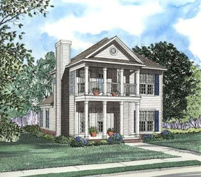 3 Bed, 2 Bath, 1672 Square Foot House Plan - #110-00319