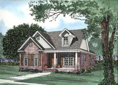 3 Bed, 2 Bath, 1445 Square Foot House Plan - #110-00320