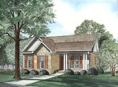 3 Bed, 2 Bath, 1449 Square Foot House Plan - #110-00321