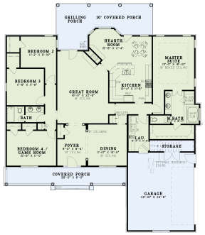 Floorplan 1 for House Plan #110-00323