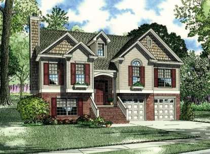 3 Bed, 3 Bath, 1596 Square Foot House Plan - #110-00333