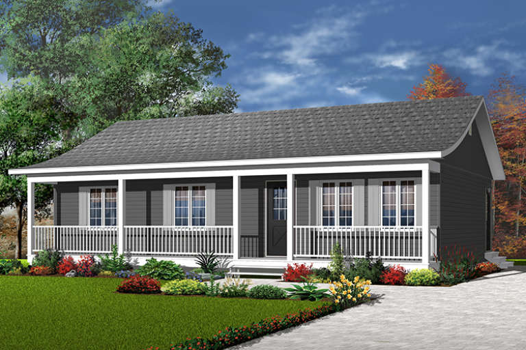 Ranch House Plan #034-00111 Elevation Photo