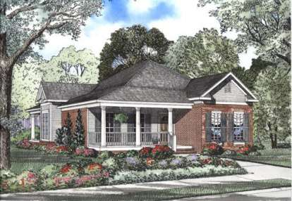 3 Bed, 2 Bath, 1601 Square Foot House Plan - #110-00353