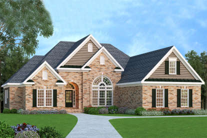 4 Bed, 2 Bath, 2406 Square Foot House Plan - #009-00035