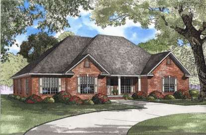 4 Bed, 2 Bath, 2394 Square Foot House Plan - #110-00363