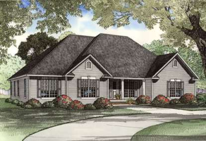 4 Bed, 2 Bath, 2394 Square Foot House Plan - #110-00364