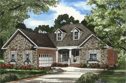 4 Bed, 2 Bath, 1930 Square Foot House Plan - #110-00376