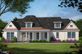 Country House Plan #402-00998 Elevation Photo