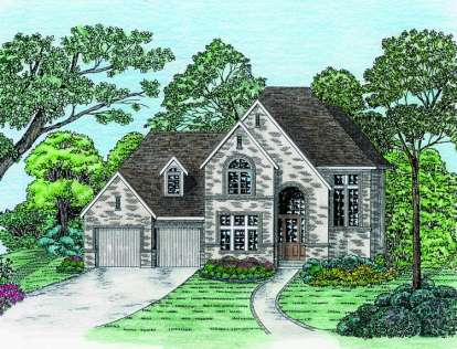3 Bed, 2 Bath, 2042 Square Foot House Plan - #402-01003