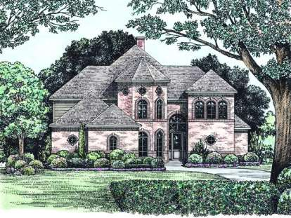 4 Bed, 3 Bath, 2588 Square Foot House Plan - #402-01005