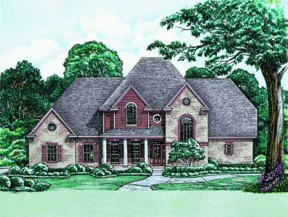 4 Bed, 3 Bath, 3080 Square Foot House Plan - #402-01008