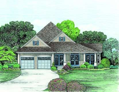 4 Bed, 2 Bath, 2211 Square Foot House Plan - #402-01012