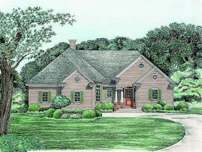3 Bed, 2 Bath, 1751 Square Foot House Plan - #402-01014