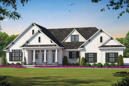 3 Bed, 2 Bath, 2393 Square Foot House Plan - #402-01018
