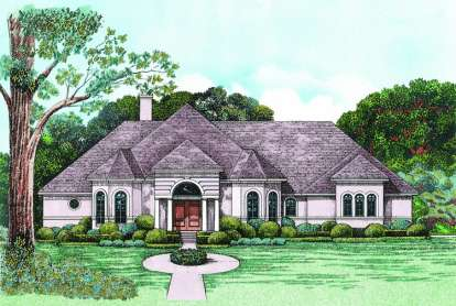 3 Bed, 2 Bath, 2517 Square Foot House Plan - #402-01026