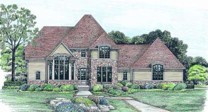 4 Bed, 3 Bath, 2508 Square Foot House Plan - #402-01030