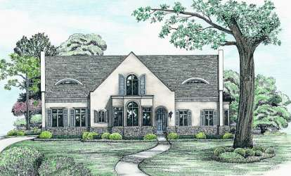4 Bed, 2 Bath, 2624 Square Foot House Plan - #402-01039