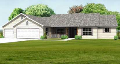 3 Bed, 2 Bath, 2270 Square Foot House Plan - #849-00002