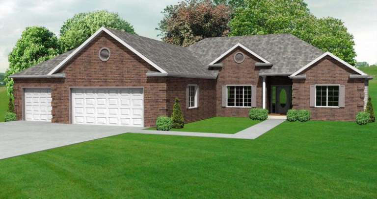 European House Plan #849-00013 Elevation Photo