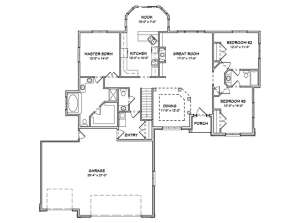 Floorplan 1 for House Plan #849-00013