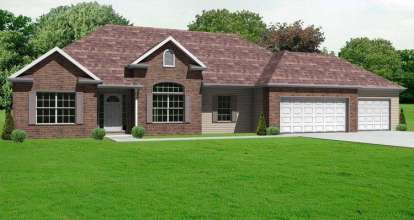 3 Bed, 2 Bath, 1724 Square Foot House Plan - #849-00025