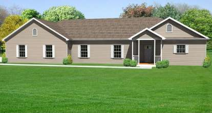 3 Bed, 2 Bath, 1880 Square Foot House Plan - #849-00026
