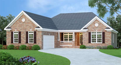 4 Bed, 2 Bath, 2141 Square Foot House Plan - #009-00036