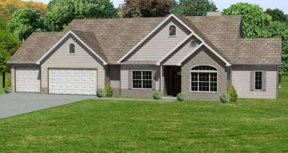 3 Bed, 2 Bath, 1862 Square Foot House Plan - #849-00030