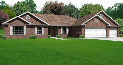 3 Bed, 2 Bath, 1790 Square Foot House Plan - #849-00031