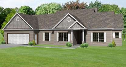 3 Bed, 2 Bath, 2082 Square Foot House Plan - #849-00035