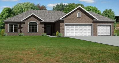 3 Bed, 2 Bath, 1540 Square Foot House Plan - #849-00037