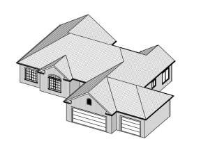 Ranch House Plan #849-00037 Elevation Photo