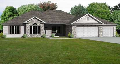 3 Bed, 2 Bath, 2136 Square Foot House Plan - #849-00045