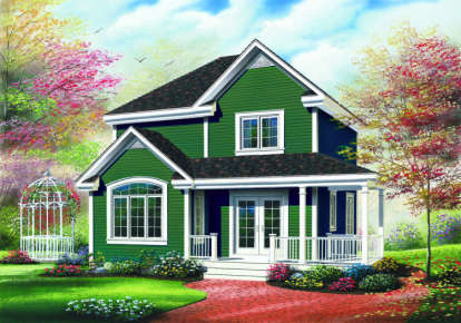 3 Bed, 2 Bath, 1530 Square Foot House Plan - #034-00124
