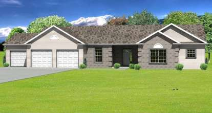 3 Bed, 2 Bath, 2112 Square Foot House Plan - #849-00051