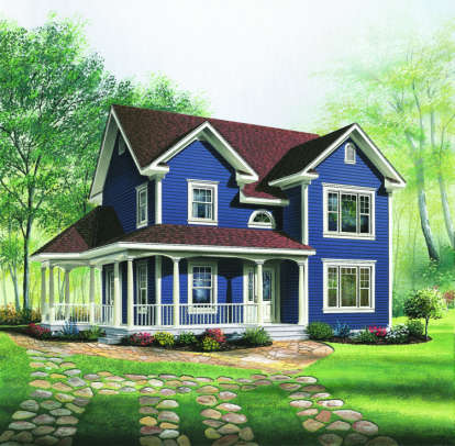 3 Bed, 1 Bath, 1746 Square Foot House Plan - #034-00125