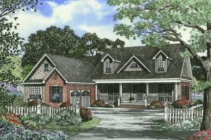 4 Bed, 2 Bath, 2685 Square Foot House Plan - #110-00400